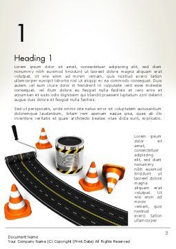 Road Construction Concept Word Template, First Inner Page, 13327, Construction — PoweredTemplate.com