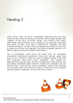 Road Construction Concept Word Template, Second Inner Page, 13327, Construction — PoweredTemplate.com