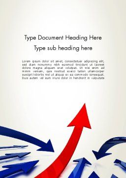 Future Directions Word Template, Cover Page, 13330, Consulting — PoweredTemplate.com