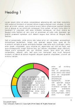 Abstract Chart Style Word Template, First Inner Page, 13332, Business — PoweredTemplate.com