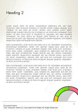 Abstract Chart Style Word Template, Second Inner Page, 13332, Business — PoweredTemplate.com
