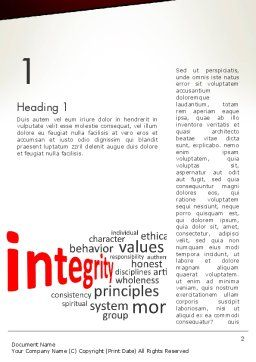 Integrity Word Cloud Word Template, First Inner Page, 13333, Consulting — PoweredTemplate.com