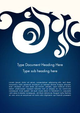 Thai Style Pattern Word Template Cover Page