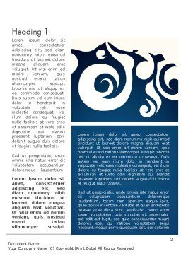 Thai Style Pattern Word Template First Inner Page