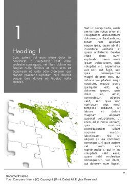 North and South America Map Word Template, First Inner Page, 13342, Global — PoweredTemplate.com