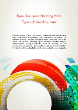 Stir Colored Layers Abstract Word Template Cover Page