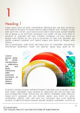 Stir Colored Layers Abstract Word Template, First Inner Page, 13343, Art & Entertainment — PoweredTemplate.com