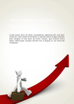 Career Growth Word Template, Cover Page, 13345, Careers/Industry — PoweredTemplate.com