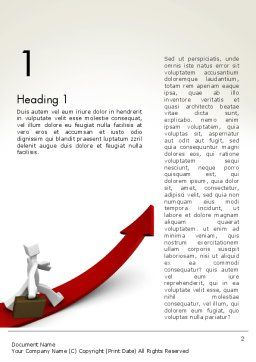 Career Growth Word Template, First Inner Page, 13345, Careers/Industry — PoweredTemplate.com