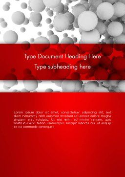 Flying Spheres Word Template, Cover Page, 13346, 3D — PoweredTemplate.com