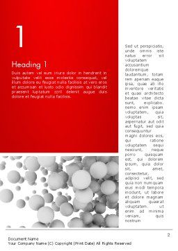 Flying Spheres Word Template, First Inner Page, 13346, 3D — PoweredTemplate.com