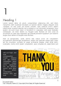 Thank You Collage Word Template First Inner Page