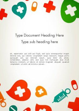 Medical Illustration Word Template, Cover Page, 13350, Medical — PoweredTemplate.com