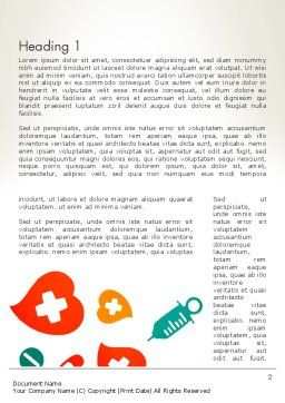 Medical Illustration Word Template, First Inner Page, 13350, Medical — PoweredTemplate.com