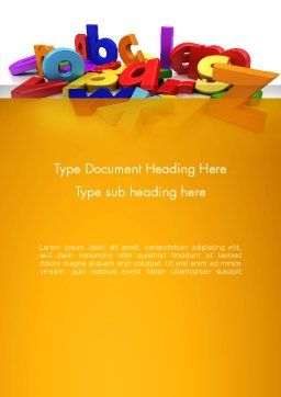 Colorful Letters Word Template Cover Page