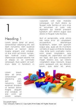 Colorful Letters Word Template First Inner Page