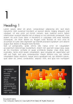 Teamwork Puzzle Word Template, First Inner Page, 13355, Careers/Industry — PoweredTemplate.com
