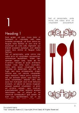 Restaurant Presentation Word Template, First Inner Page, 13356, Food & Beverage — PoweredTemplate.com
