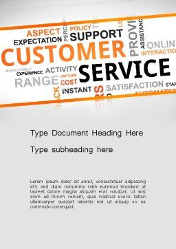 Customer Service Word Cloud Word Template, Cover Page, 13359, Careers/Industry — PoweredTemplate.com