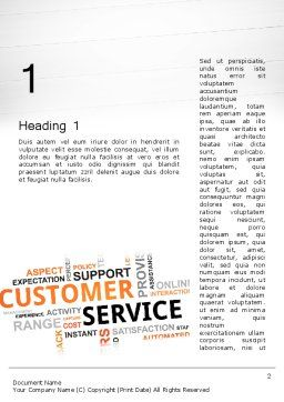Customer Service Word Cloud Word Template, First Inner Page, 13359, Careers/Industry — PoweredTemplate.com