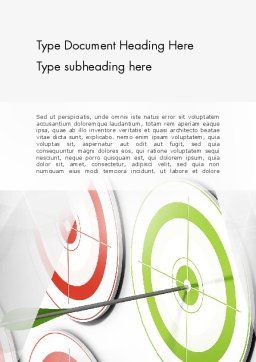Building Target Market Word Template, Cover Page, 13361, Careers/Industry — PoweredTemplate.com