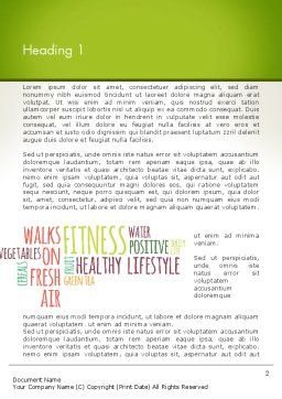 Healthy Lifestyle Word Cloud Word Template, First Inner Page, 13362, Medical — PoweredTemplate.com