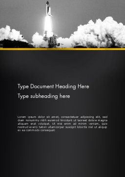 Rocket Launch Word Template, Cover Page, 13365, Technology, Science & Computers — PoweredTemplate.com