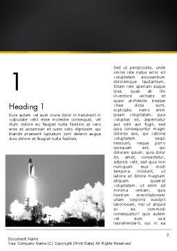 Rocket Launch Word Template, First Inner Page, 13365, Technology, Science & Computers — PoweredTemplate.com