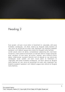 Rocket Launch Word Template, Second Inner Page, 13365, Technology, Science & Computers — PoweredTemplate.com
