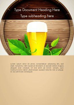 Draft Beer Word Template, Cover Page, 13366, Food & Beverage — PoweredTemplate.com