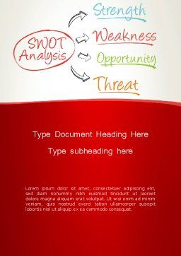 SWOT Analysis Strategy Word Template, Cover Page, 13370, Consulting — PoweredTemplate.com