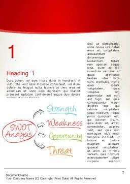 SWOT Analysis Strategy Word Template, First Inner Page, 13370, Consulting — PoweredTemplate.com