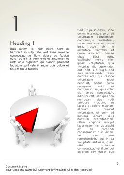 Business Share Matters Word Template, First Inner Page, 13372, 3D — PoweredTemplate.com