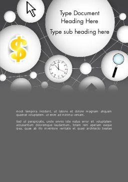 Bubble Network Abstract Word Template, Cover Page, 13375, Business Concepts — PoweredTemplate.com
