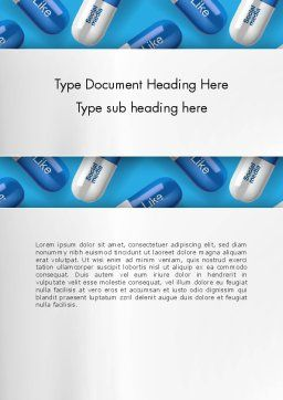 Social Pills Word Template, Cover Page, 13377, Consulting — PoweredTemplate.com