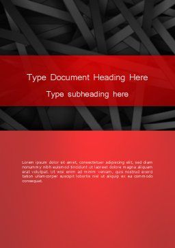 Abstract Black Overlapping Stripes Word Template, Cover Page, 13378, Business — PoweredTemplate.com