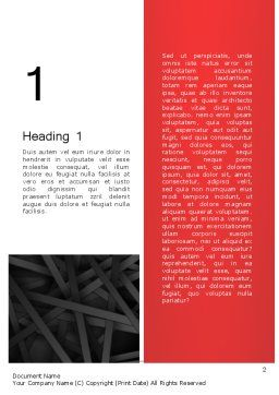 Abstract Black Overlapping Stripes Word Template, First Inner Page, 13378, Business — PoweredTemplate.com