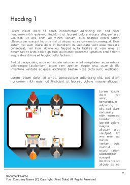 Communication for Successful Project Word Template, First Inner Page, 13383, Business Concepts — PoweredTemplate.com