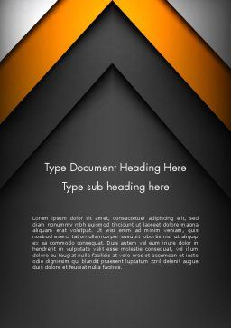 Abstract Right Directional Arrow Word Template, Cover Page, 13384, Business — PoweredTemplate.com