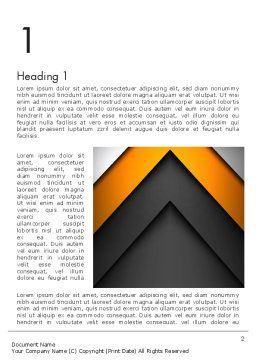 Abstract Right Directional Arrow Word Template, First Inner Page, 13384, Business — PoweredTemplate.com