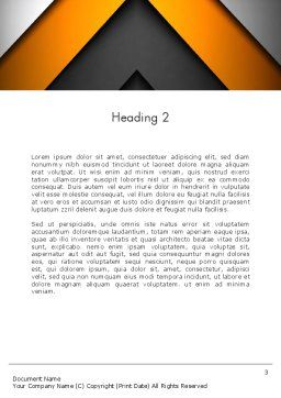 Abstract Right Directional Arrow Word Template, Second Inner Page, 13384, Business — PoweredTemplate.com