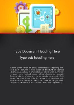 Internet Banking Word Template, Cover Page, 13388, Financial/Accounting — PoweredTemplate.com