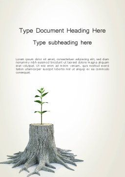 Tree Stump Word Template Cover Page