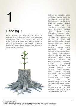Tree Stump Word Template First Inner Page