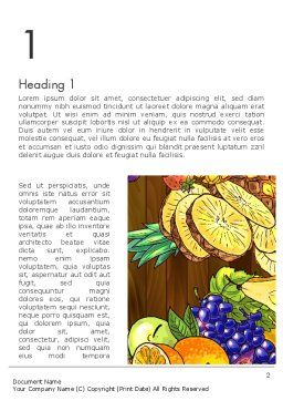 Fruits and Vegetables Diet Word Template, First Inner Page, 13390, Food & Beverage — PoweredTemplate.com