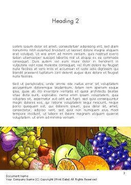 Fruits and Vegetables Diet Word Template, Second Inner Page, 13390, Food & Beverage — PoweredTemplate.com