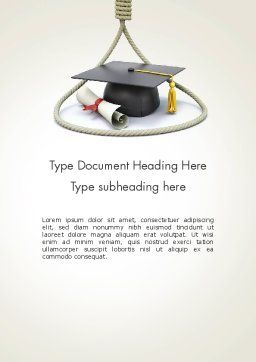 Graduates Wanted Word Template Cover Page