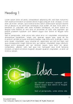 Idea Concept with Light Bulb Word Template, First Inner Page, 13394, Business Concepts — PoweredTemplate.com