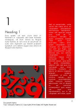 Red Numbers Word Template, First Inner Page, 13396, Education & Training — PoweredTemplate.com