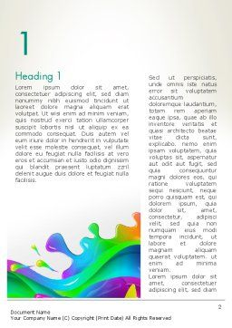 Color Blob Word Template First Inner Page